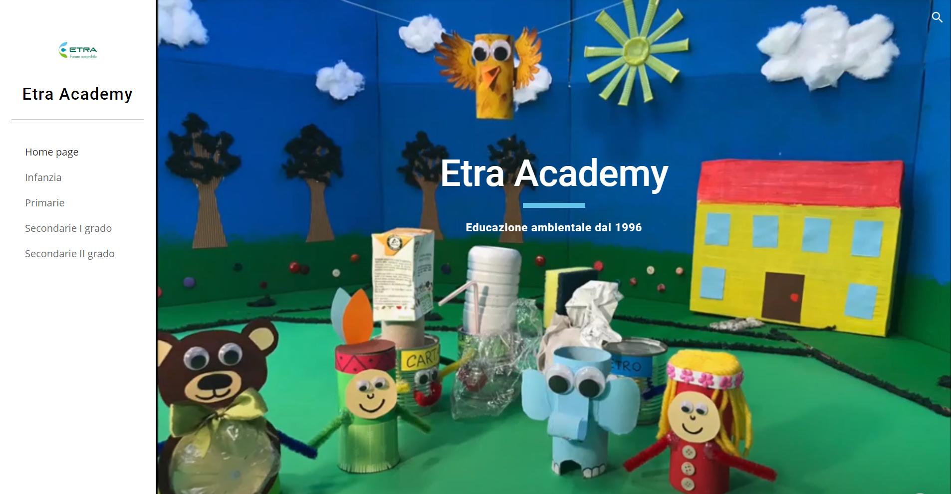 Mini sito Etra Academy